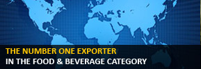 The number one exporter in the Food & Beverage category.